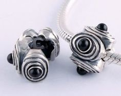 1pc 925 Sterling Silver Clasp Black Onyx Round Ball Charms Stopper Beads Compatible with Pandora Chamilia Kay Troll European Bracelets