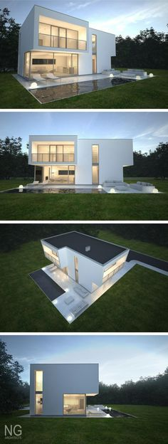 Baltas - modern 140 m2 house designed by NG architects www.ngarchitects.lt