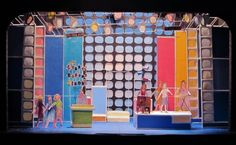 set models for the production of HAIRSPRAY at Northport's Engeman Theatre.