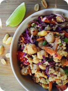 Thai quinoa salad. (vegetarian, vegan) | wealth of health * loved it fresh, but didn't enjoy the leftovers