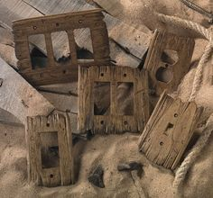 I hand-carve each Old West switch plate using tattered barn wood as a model. - I hand-carve each Old West switch plate using tattered barn wood as a model. No two are alike. Country Decor, Rustic Decor, Rustic Barn, Rustic Wood, Old Western Decor, Barn Wood Decor, Rustic Theme, Salvaged Wood, Rustic Man Cave