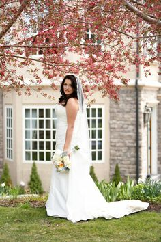 Real bride suzanne in the claire pettibone beauty wedding dress mandy in a justin alexander gown at her colorado wedding little white dress bridal shop junglespirit Images