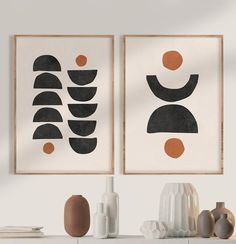 Wall Art Sets, Diy Wall Art, Modern Wall Art, Wall Art Prints, Modern Art Prints, Mid Century Modern Art, Mid Century Art, Motifs Organiques, Diy Inspiration