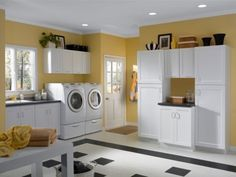 I love everything about this laundry room!  It even has it's own entrance.
