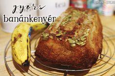 banánkenyér recept Evo, Banana Bread, Healthy Eating, Urban, Cookies, Sweet, Recipes, Drink, Crack Crackers