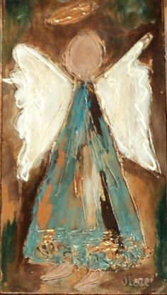 Angel notecards original angel painting cards custom acrylic print, acrylic painting print on Etsy, $12.00