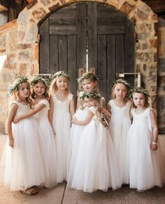 The cutest flower girl dresses ever! From Fattiepie. Flutter sleeves, delicate ivory lace sweet-heart bodice, with triple layers of soft ivory tulle and very comfortable for your little flower girl. Cute Flower Girl Dresses, Tulle Flower Girl, Tulle Flowers, Tulle Lace, Girls Dresses, Pageant Dresses, Wedding Flower Girls, Party Dresses, Bohemian Flower Girl Dress