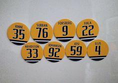 Nashville Predators Magnet Set | Jersey Magnets | Subban Josi Rinne Johansen etc #NashvillePredators