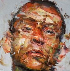 'The boy' by Paul Wright. This piece was painted using oil paints. The strokes seen within the piece are loose but really expressive. I chose this piece for the same reason I chose Marco Grassi's work. I liked the distortion mixed in with realism. Abstract Portrait, Portrait Art, Portrait Paintings, Paul Wright, A Level Art, Texture Painting, Portraits, Art Sketchbook, Figure Painting