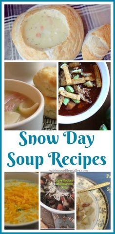 Snow Day Soup Recipes