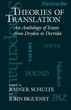 theories of translation an anthology of essays