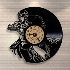 Hey, I found this really awesome Etsy listing at https://www.etsy.com/listing/259123766/zelda-art-vinyl-wall-record-clock