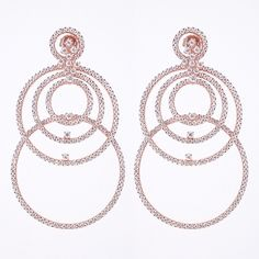 Pop Off Earrings    #bubbles #hoops #rosegold #earrings #hulahoop #dangles #pretty #summer
