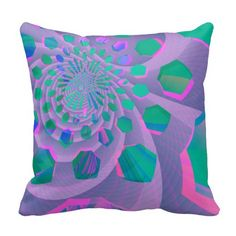 Abstract Pastel Throw Pillow #zazzle #abstract #pillows #purple