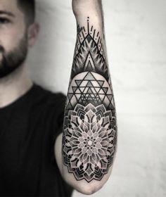 # tattoo # body art tattoo and gray tattoos tattoos Mandala Tattoo Mann, Geometric Mandala Tattoo, Geometric Tattoos Men, Mandala Tattoo Design, Tribal Tattoos, Tattoo Designs, Mandala Art, Geometric Tattoo Sleeve Designs, Geometry Tattoo
