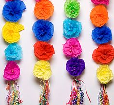 Mexican Paper Flowers - Amols' Fiesta Party Supplies