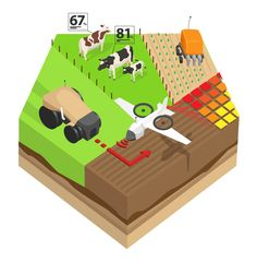 Precision agriculture may revolutionise the future of farming in Europe. We have developed an animated infographic to guide you through precision agriculture's potential and the risks it … Farming Technology, Use Of Technology, What Is Big Data, Precision Agriculture, Sustainable Farming, Smart City, Infographic, Animation, Projects