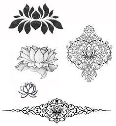 tatuaje flor de loto, lotus flower tattoo