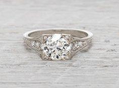 1.68 Carat Vintage Diamond Engagement Ring