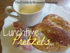 The Unlikely Homeschool: Lunchtime Soft Pretzels Bread Recipes, Real Food Recipes, Snack Recipes, Yummy Food, Healthy Homemade Snacks, Pretzels Recipe, Soft Pretzels, Lunch Time, Freshly Baked