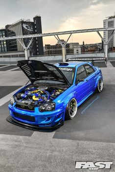 There are lots of tuned Subaru Imprezas out there, so it's difficult to stand out. Kev Cham's approach is to just go totally nuts – and push the very limits of logic itself. Jdm Subaru, Subaru Impreza Sti, Subaru Cars, Tuner Cars, Jdm Cars, Nissan Skyline, Gt Turbo, Street Racing Cars, High Performance Cars