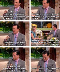Colbert on Gatsby #EnglishMajorProblems