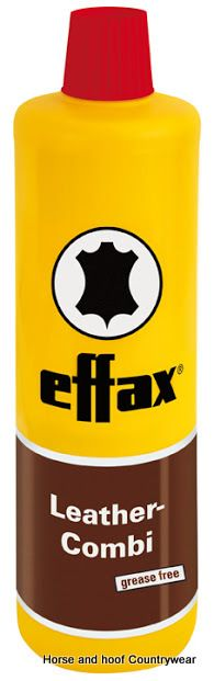 Effax Leather Combi 500ml Cleans and nourishes the leather fibre in a unique way with a deep-penetrating effect without making the leather greasy