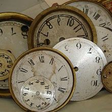 Salavaged clock faces from The Red Door Antiques - Eddyville, KY