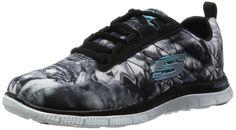 SkechersFlex Appealcosmic Rays - Zapatillas Mujer , (negro / blanco), 37,5