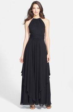 $198, Eliza J Chiffon Halter Gown. Sold by Nordstrom. Click for more info: https://lookastic.com/women/shop_items/90668/redirect