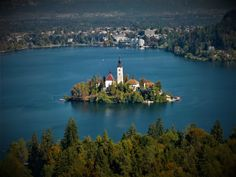 Photographic Print: Slovenia, Gorenjska, Upper Carniola, Bled, Lake Bled by Udo Siebig : River, Slovenia, Outdoor, Outdoors, Outdoor Games, The Great Outdoors, Rivers