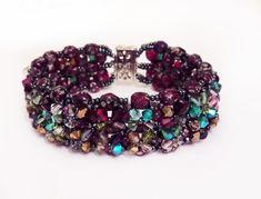 beaded bracelet  Lacjum free shipping worldwide by Beadamor on Etsy