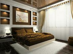 Wandgestaltung Schlafzimmer Grün Braun