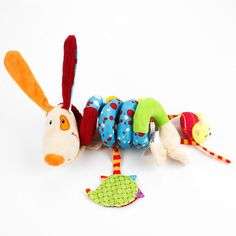 Newborn Baby Cute Plush Bed Stroller Cartoon Dog Hanging Toy Infant Rattle Grasp Educational Toys Toddler Crib Mobile Products