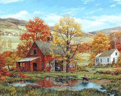 "Fred Swan - ""Friends in Autumn"""