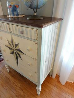 Charmant Compass Rose Painted Dresser