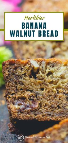 Try this banana walnut bread for a perfect taste of fall! It is easy to make and tastes amazing, make this for a fall comfort food that everyone will love! Healthy Thanksgiving Recipes, Vegetarian Recipes Easy, Healthy Meals For Kids, Easy Recipes, Dinner Recipes, Healthy Recipes, Easy Mediterranean Recipes, Mediterranean Dishes, Banana Walnut Bread