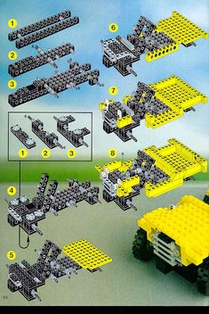 LEGO 8888 Idea Book instructions displayed page by page to help you build this amazing LEGO Technic Books set Lego Projects, Lego Technic, Legos, Nostalgia, Tutorials, Cars, Retro, Books, Lego