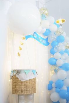 192 Amazing Baby Shower Hot Air Balloon Rainbow Images In 2019