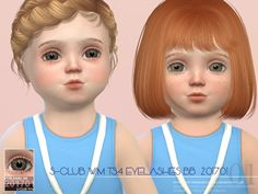 Eyelashes for toddlers, 2 colors, light and dark. hope you like this, thanks! Found in TSR Category 'Sims 4 Female Eyeliner'