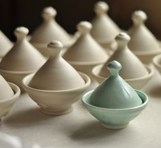 Handmade Salt cellars in process | Lucy Fagella Pottery
