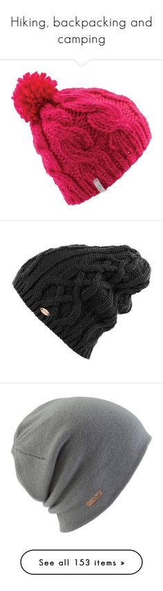 """""""Hiking, backpacking and camping"""" by cookiescakeandhulahoops ❤ liked on Polyvore featuring accessories, hats, coal hats, beanie hat, cable knit beanie hat, coal beanie, beanie cap hat, cable knit beanie, oversized hat and acrylic hat"""