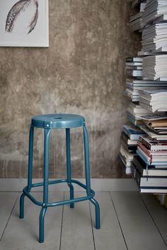 blue raskog stools perfect for plant stands