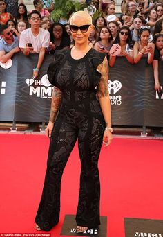 You better work: Amber Rose proved she's a force to be reckoned with when it comes to show...