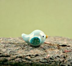 NEW Colorful Little Bird - Hand Sculpted Miniature Ceramic Animal on Etsy, $15.00