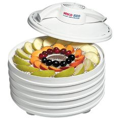 Nesco Dehydrators. Dehydrate your own banana chips, dried apples, etc. YUM!  Eating dehydrated fruit makes for great healthy snacks.