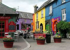Kinsale, Ireland -  This small harbor town is colorful, green, and super beautiful
