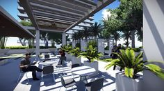Outdoor BBQ, Fire-pit & cabanas complement your living spaces.  Guido 305.546.4141