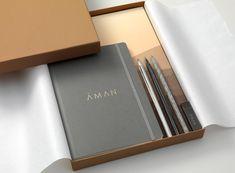 Aman   Journal   Construct London Identity Design, Brochure Design, Brand Identity, Travel Brochure, Hotel Branding, Corporate Branding, Logo Branding, Hotel Logo, Corporate Design