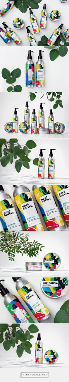 Pari Satiss organic cosmetics packaging design by Fabula Branding - http://www.packagingoftheworld.com/2017/05/pari-satiss.html
